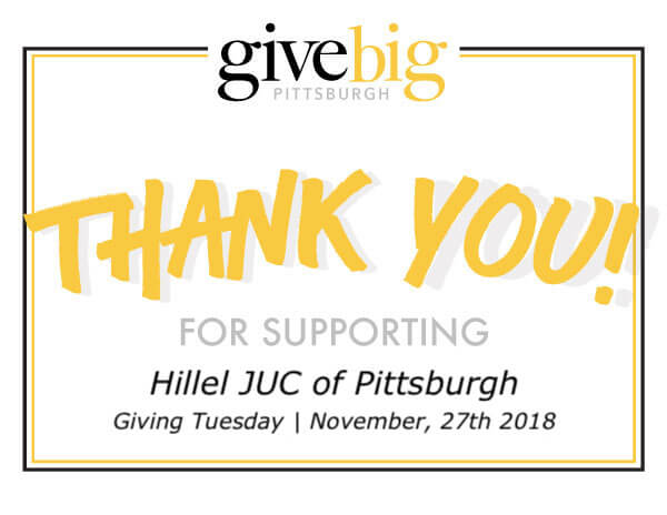Thank-You_Pitts - Hillel JUC of Pittsburgh : Hillel JUC of Pittsburgh